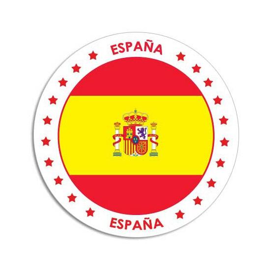 Landen versiering en vlaggen Ronde Spanje sticker