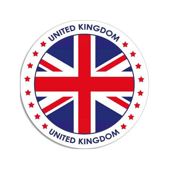 Landen versiering en vlaggen Shoppartners Ronde United Kingdom sticker