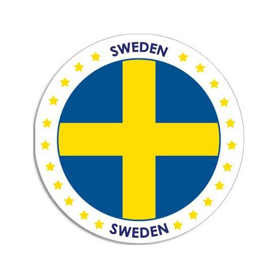 Landen versiering en vlaggen Shoppartners Ronde Zweden sticker