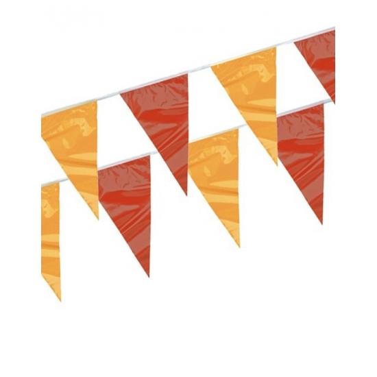 Rood geel vlaggenlijnen 4 meter AlleKleurenShirts Geweldig