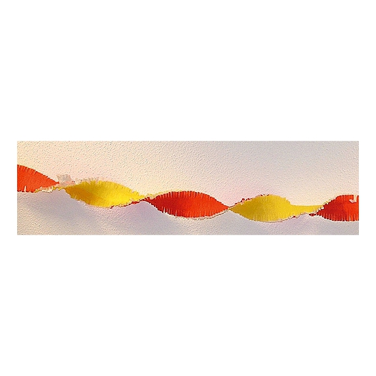 Rood gele versiering slinger 30 meter Oranje artikelen Oranje artikelen