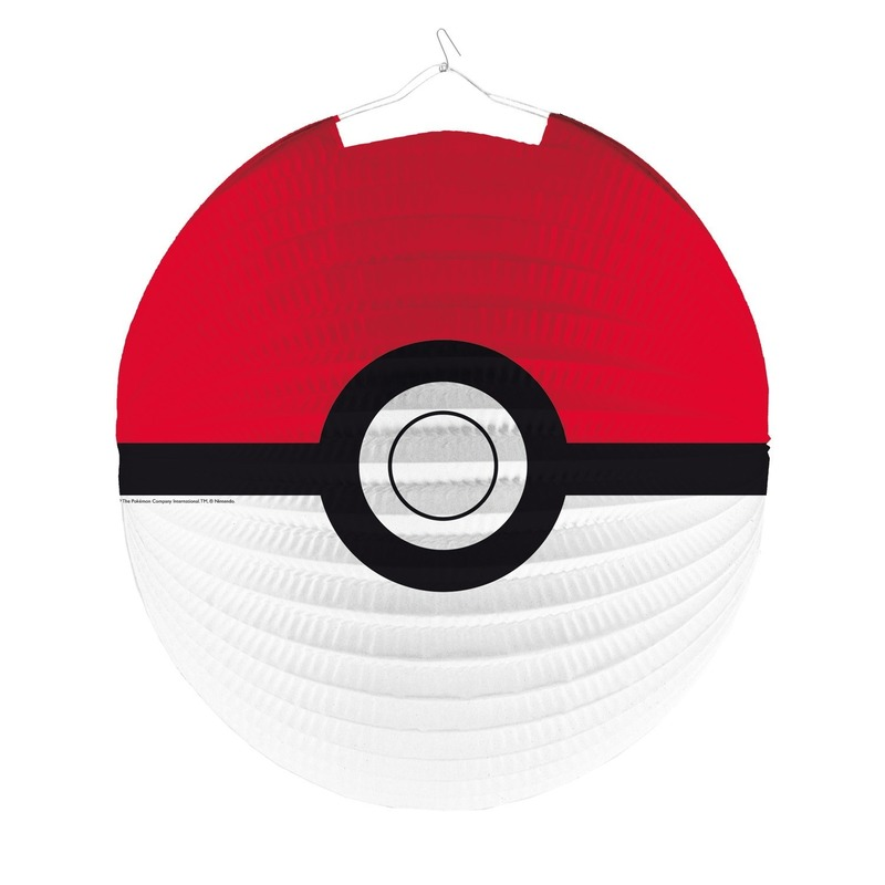Rood-witte Pokemon lampion