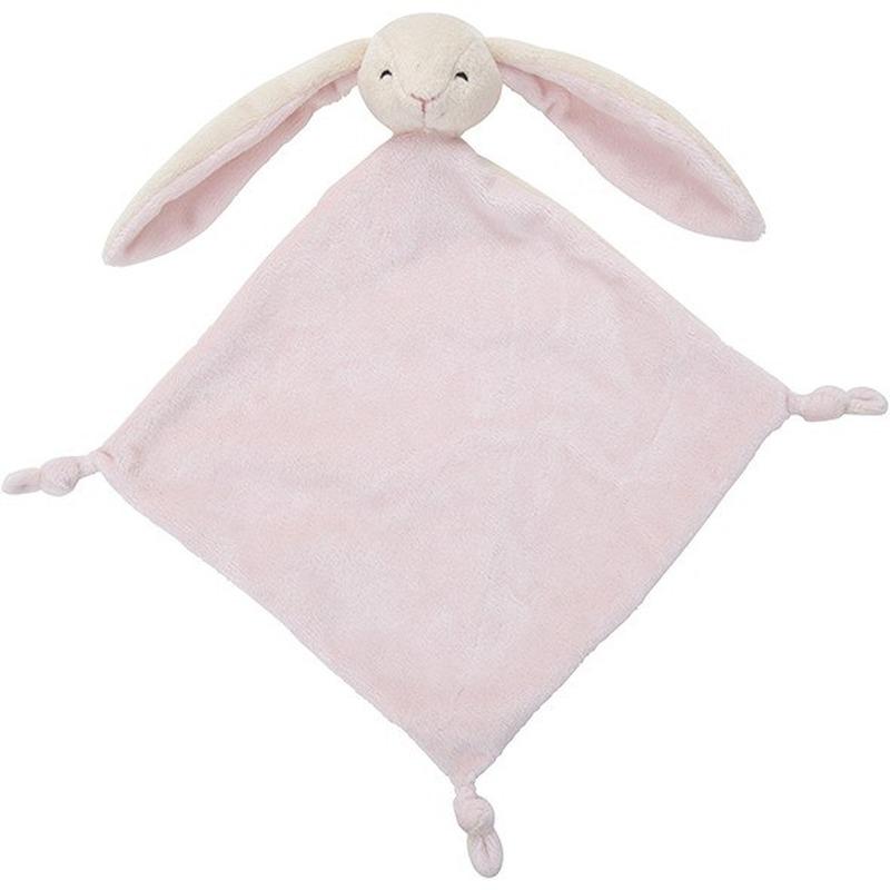 Roze konijnen-hazen knuffeldoekjes knuffels 40 cm knuffeldieren