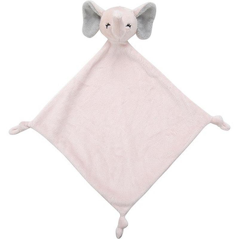 Roze olifanten knuffeldoekjes knuffels 40 cm knuffeldieren