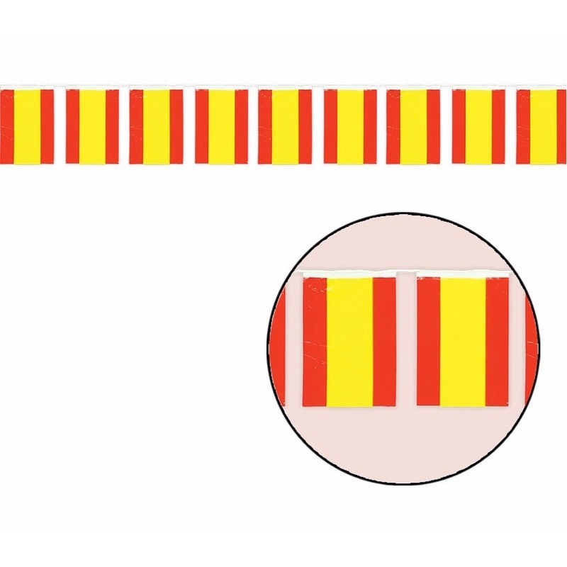 Spaanse vlaggenlijnen 50 meter AlleKleurenShirts Schitterend