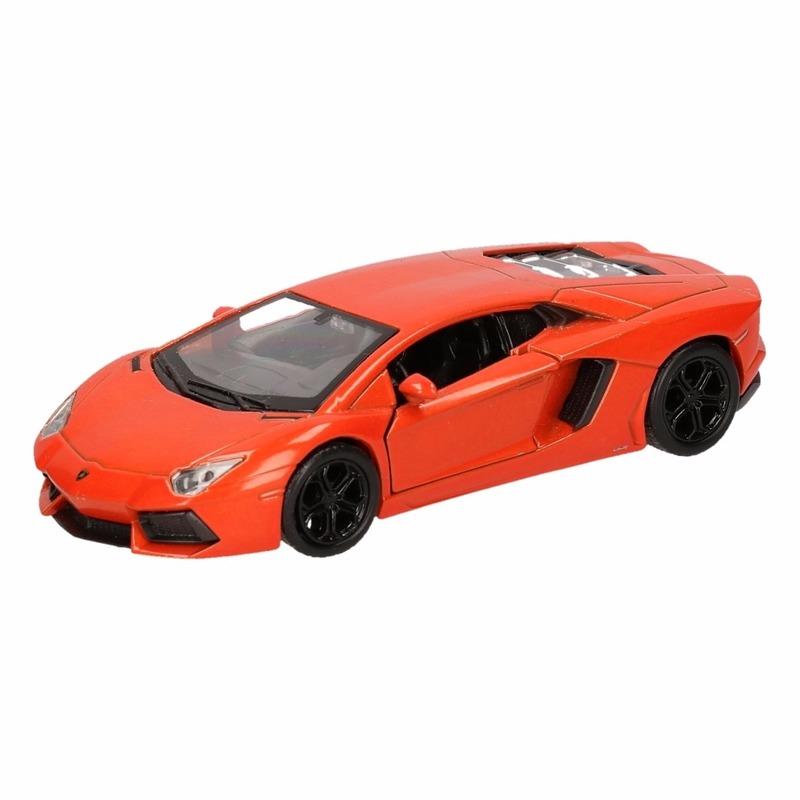 Speelgoed Lamborghini Aventador LP700-4 oranje Welly autootje 12 cm