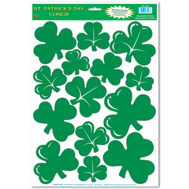 Feestartikelen diversen St Patricks Day thema stickervel
