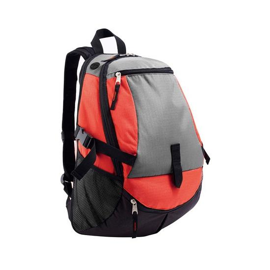 Stevige backpack tas met borstriem rood Sols Tassen