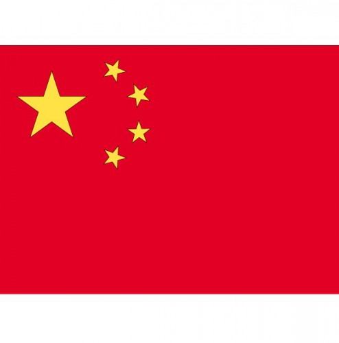Stickertjes van vlag van China Shoppartners Landen versiering en vlaggen
