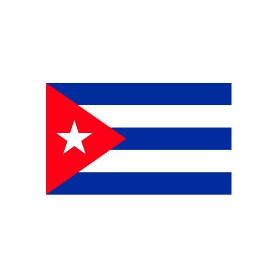 Landen versiering en vlaggen Stickertjes van vlag van Cuba