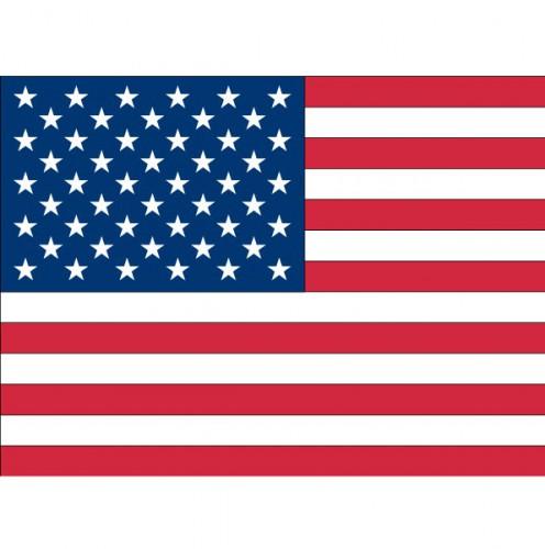 Landen versiering en vlaggen Shoppartners Stickertjes van vlag van de USA