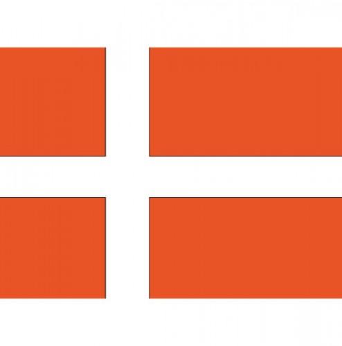 Shoppartners Stickertjes van vlag van Denemarken Landen versiering en vlaggen