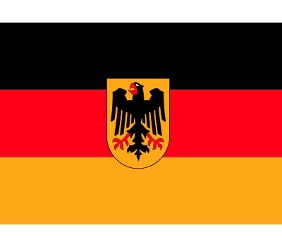 Landen versiering en vlaggen Shoppartners Stickertjes van vlag van Duitsland