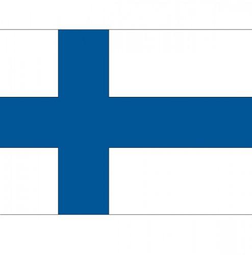 Stickertjes van vlag van Finland Shoppartners Landen versiering en vlaggen