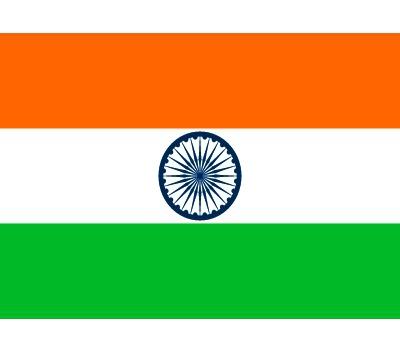 Landen versiering en vlaggen Shoppartners Stickertjes van vlag van India