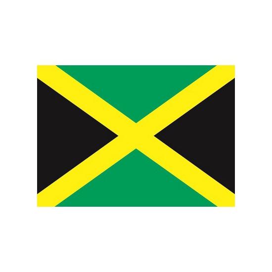 Landen versiering en vlaggen Stickertjes van vlag van Jamaica