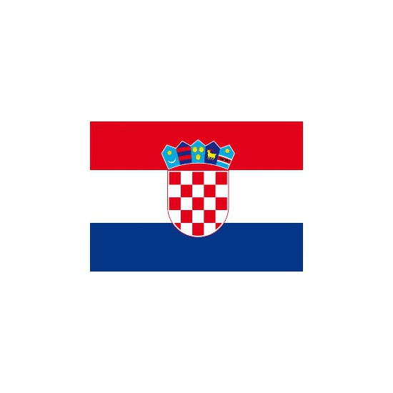 Shoppartners Stickertjes van vlag van Kroatie Landen versiering en vlaggen