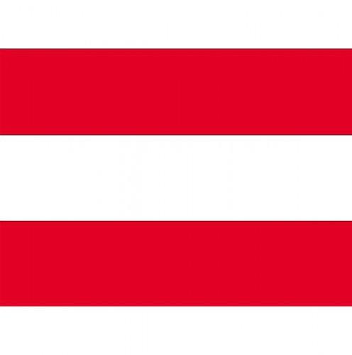 Landen versiering en vlaggen Stickertjes van vlag van Oostenrijk