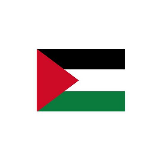 Landen versiering en vlaggen Stickertjes van vlag van Palestina