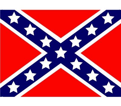 Landen versiering en vlaggen Shoppartners Stickertjes van vlag van USA rebel