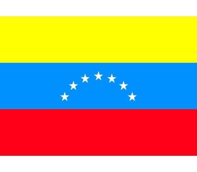 Landen versiering en vlaggen Shoppartners Stickertjes van vlag van Venezuela