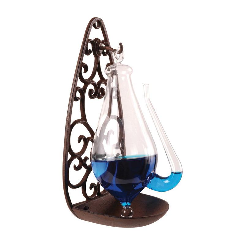 Stormglas met antieke Victoriaanse houder 28 cm