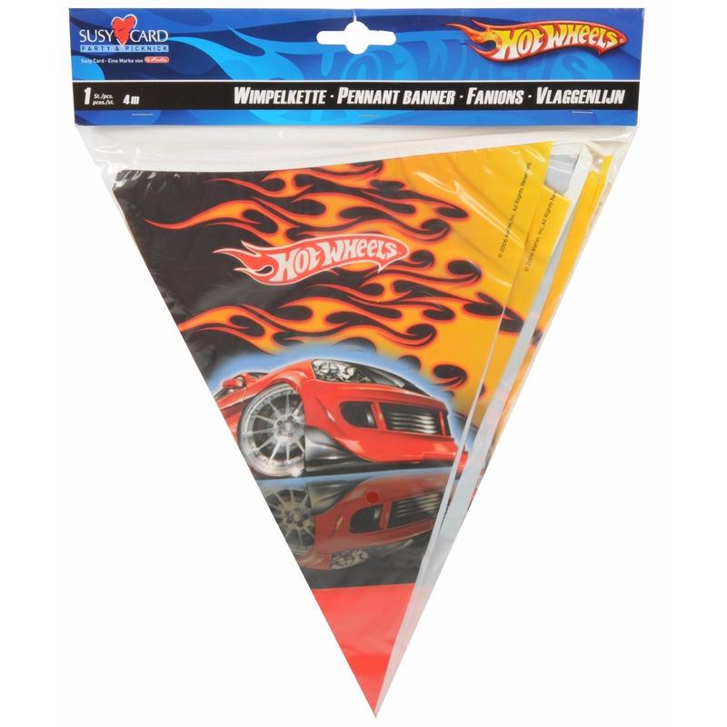 Hot Wheels Thema vlaggenlijn Hot Wheels 4 m Thema feestartikelen