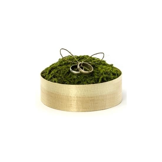 Trouwringen doosje met groen mos