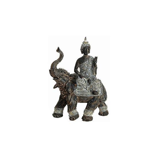 Tuindecoratie Boeddha beeld grijs 29 cm Geen Woonaccessoires