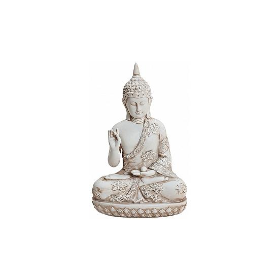 Tuindecoratie Boeddha beeldje wit 24 cm Geen Het leukste