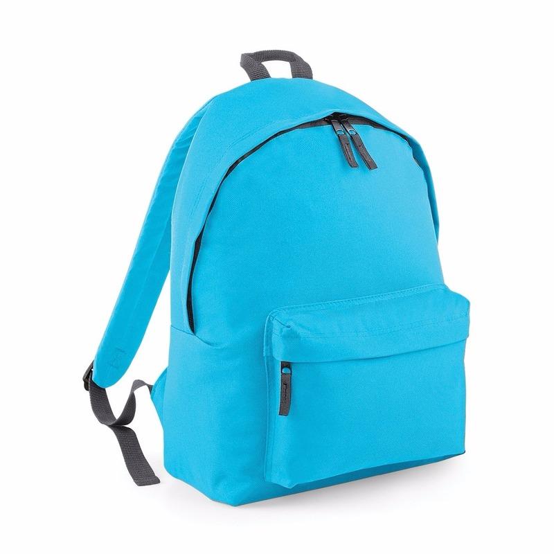 Tassen Bagbase Turquoise rugtas reistas met voorvak 18 liter voor volwassenen