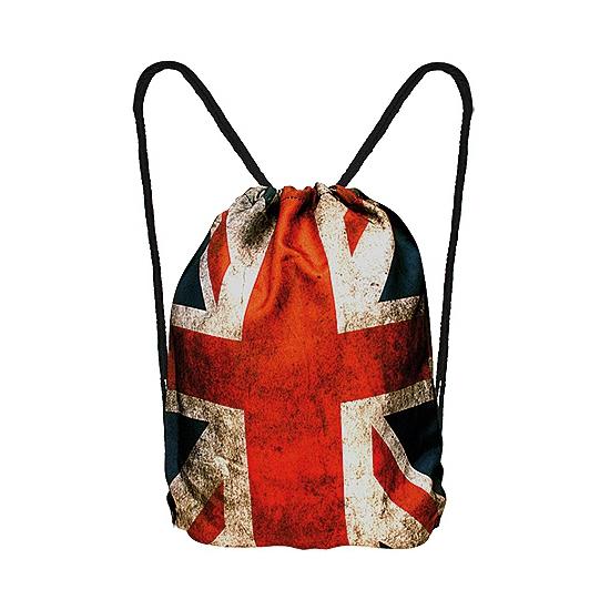 Union Jack rugtas met rijgkoord AlleKleurenShirts laagste prijs