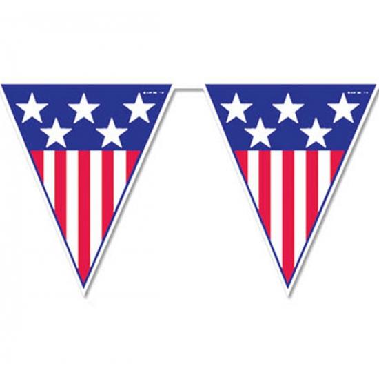 Landen versiering en vlaggen USA vlaggenlijn 4 meter