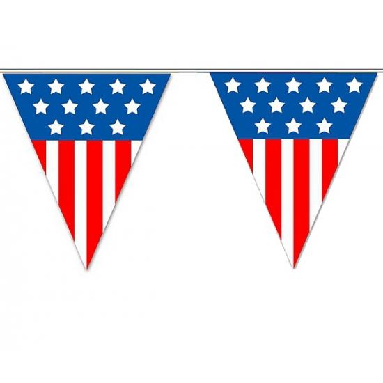 AlleKleurenShirts USA vlaggenlijnen 5 meter Landen versiering en vlaggen