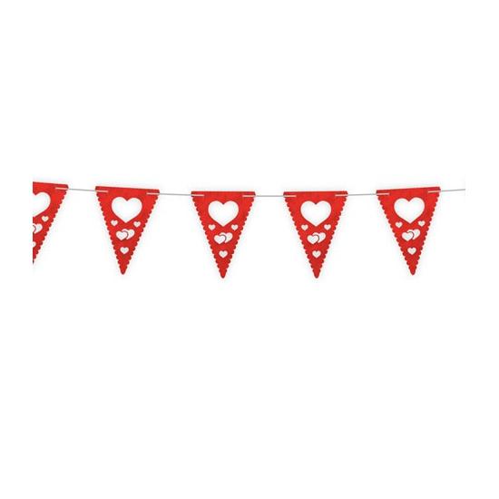 Valentijn vlaggenlijn 4 meter Folat nieuw