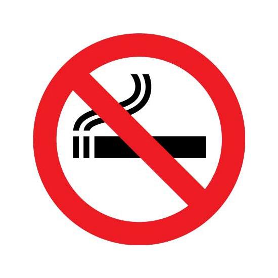 Shoppartners Verbod sticker roken Feestartikelen diversen