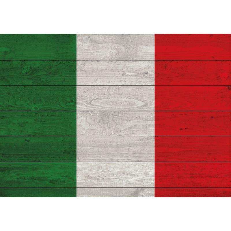 Landen versiering en vlaggen Shoppartners Vintage poster met vlag van Italie 84 cm