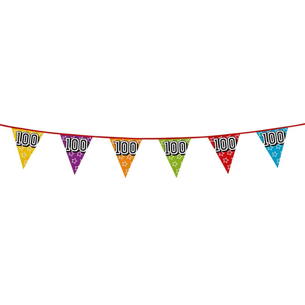 Vlaggenlijn 100 jaar feestje AlleKleurenShirts Leeftijd feestartikelen