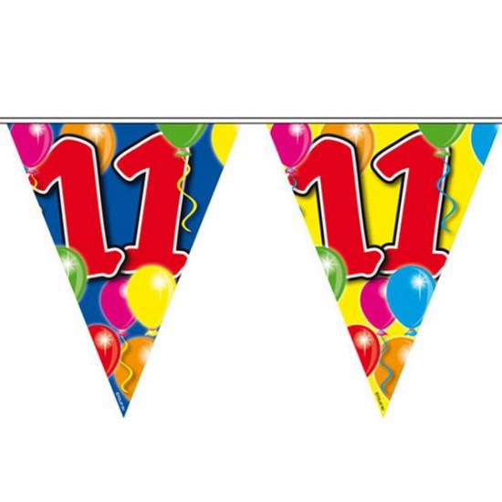 Leeftijd feestartikelen Vlaggenlijn 11 jaar 10 meter