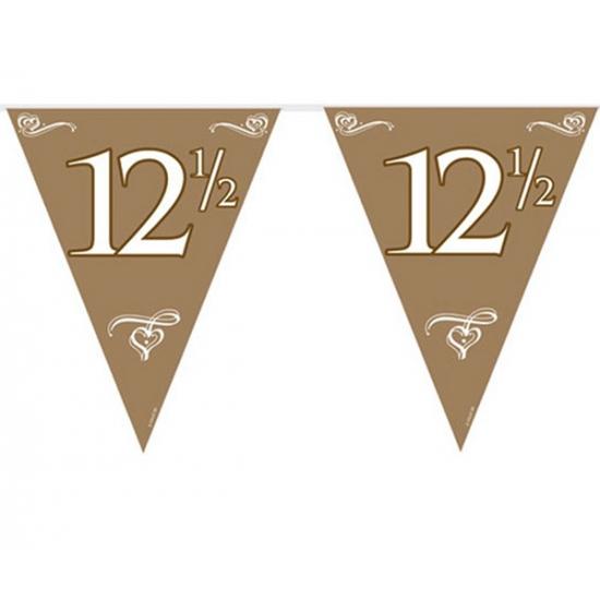 Bruiloft en Huwelijk feestartikelen Geen Vlaggenlijn 12.5 jarig jubileum