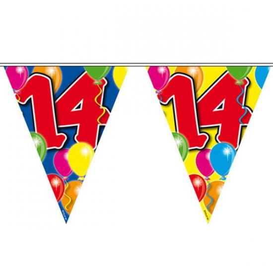 Folat Vlaggenlijn 14 jaar 10 meter Leeftijd feestartikelen