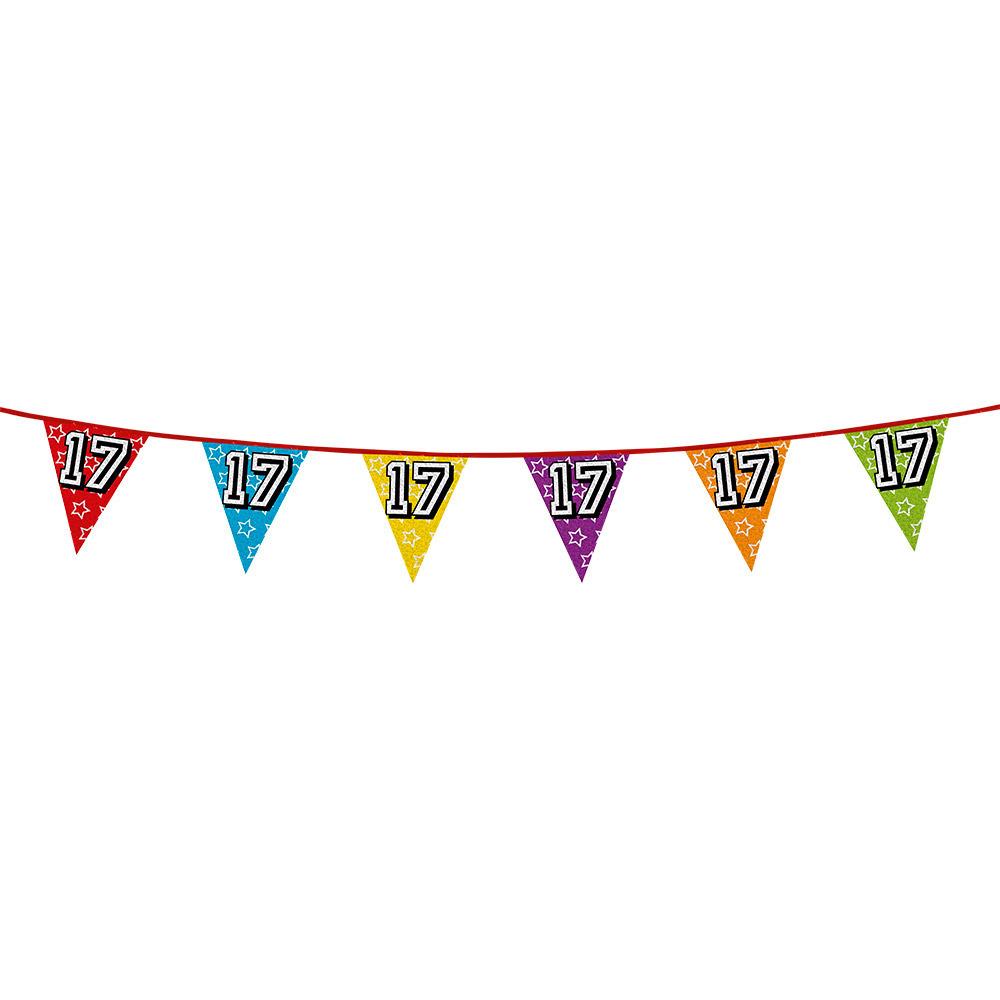 Vlaggenlijn 17 jaar feestje AlleKleurenShirts Leeftijd feestartikelen