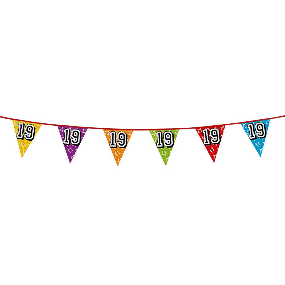 Vlaggenlijn 19 jaar feestje AlleKleurenShirts Koopje