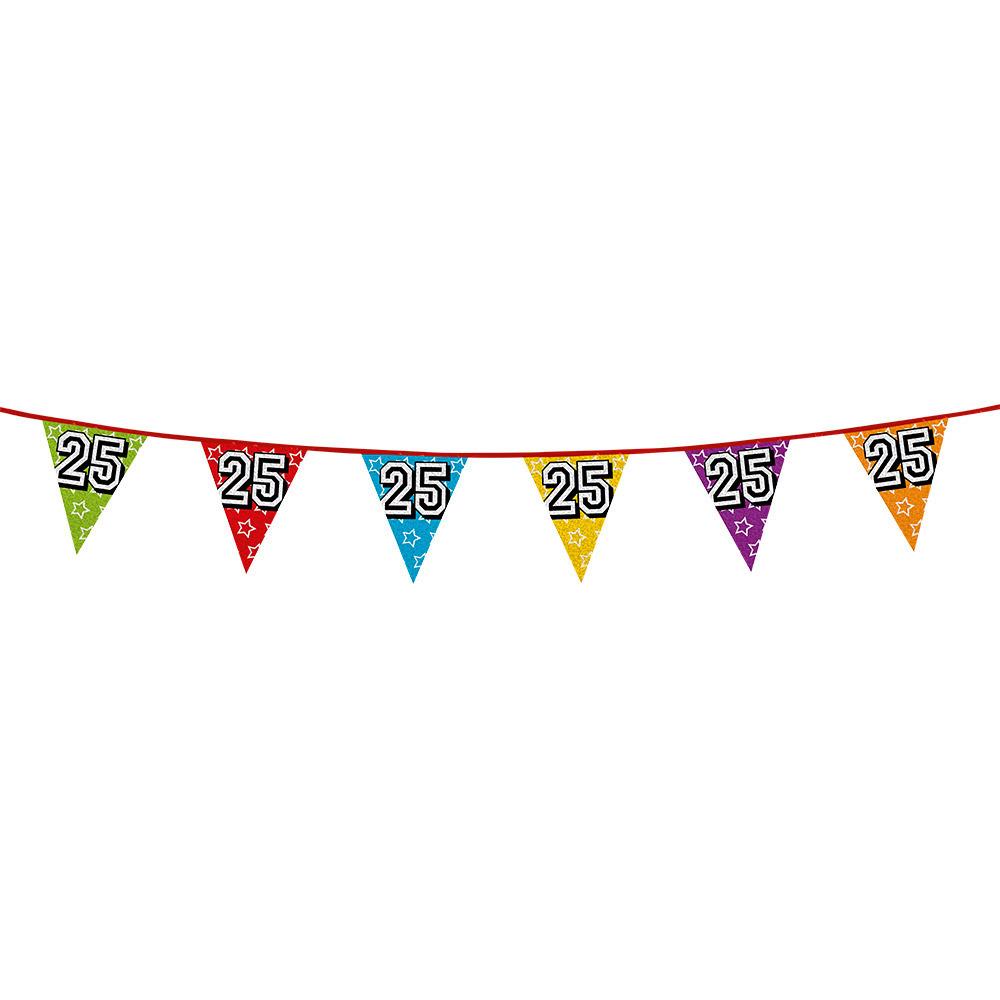Leeftijd feestartikelen AlleKleurenShirts Vlaggenlijn 25 jaar feestje