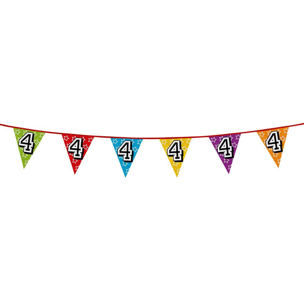 Leeftijd feestartikelen Vlaggenlijn 4 jaar feestje