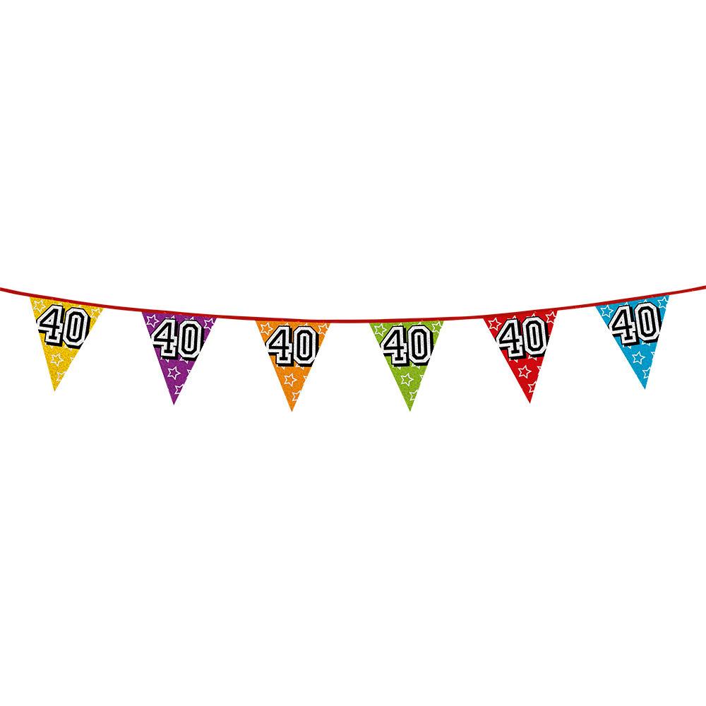 Leeftijd feestartikelen AlleKleurenShirts Vlaggenlijn 40 jaar feestje