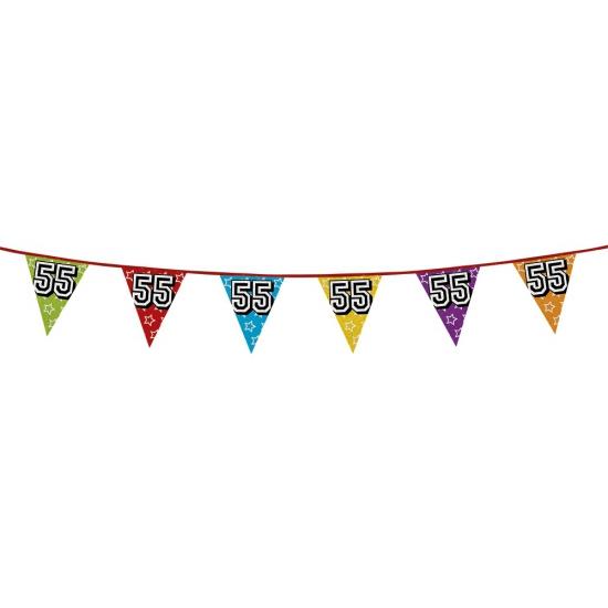 Vlaggenlijn 55 jaar feestje AlleKleurenShirts Leeftijd feestartikelen