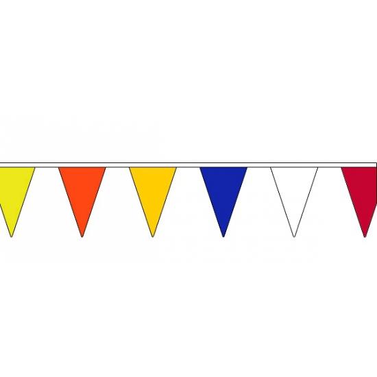 Feestartikelen diversen AlleKleurenShirts Vlaggenlijn met verschillende kleuren