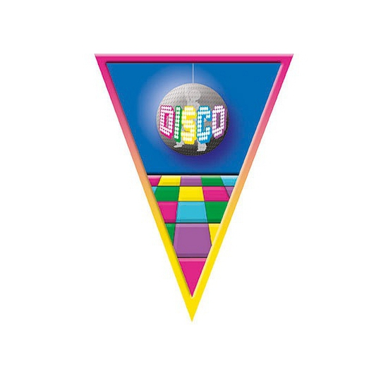 Thema feestartikelen AlleKleurenShirts Vlaggenlijnen Disco 5 meter