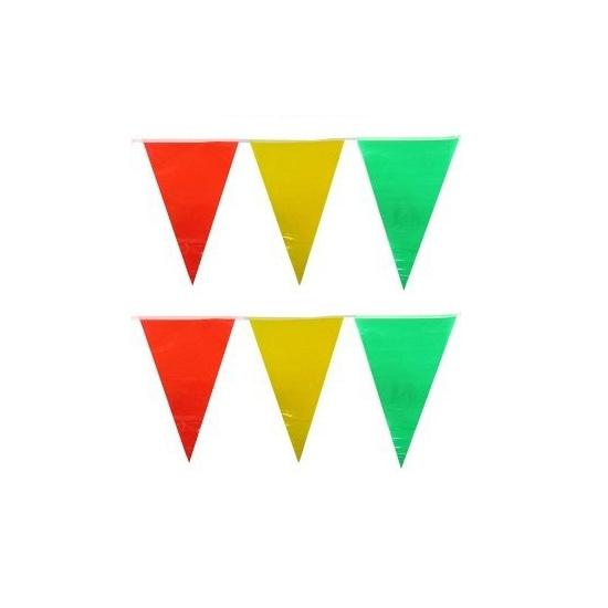 Vlaggenlijnen geel rood groen 10 meter Geen Feestartikelen diversen